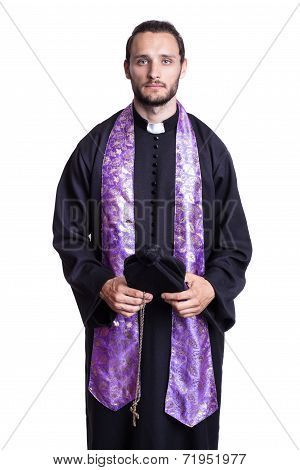 Portrait of young priest