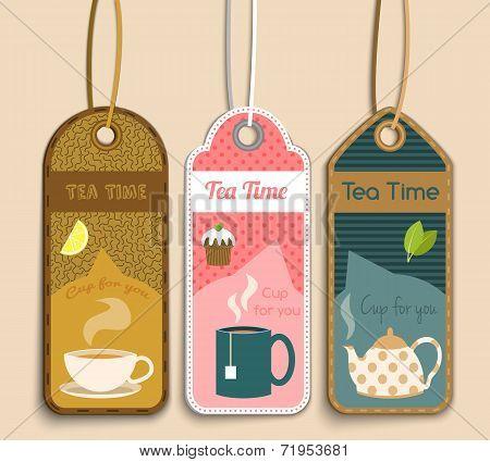 Tea labels set