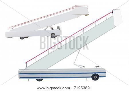 The image of a movable boarding ramp under the white background