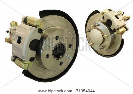The image of isolated car brake gear