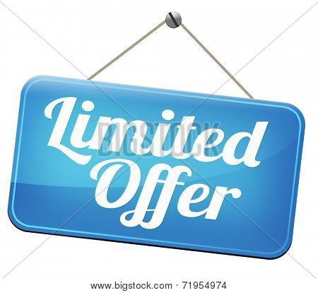 limited offer edition or stock webshop  or web shop sign