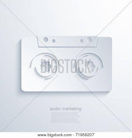 vector modern audio marketing background.