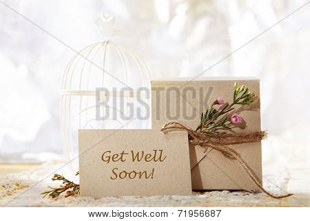Get Well Soon Hand Crafted Card And Present Box