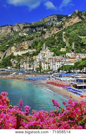 Amalfi - beautiful coastal town, Italy