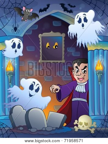 Wall alcove with Halloween theme 3 - eps10 vector illustration.