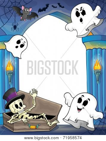 Wall alcove with Halloween theme 2 - eps10 vector illustration.