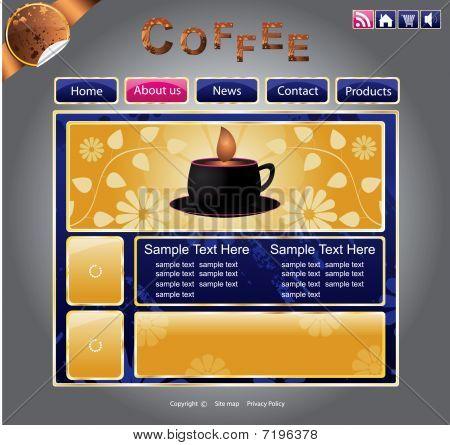Web site template design