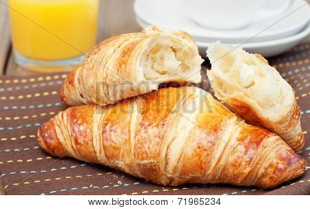 Croissant And Orange Juice