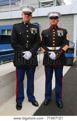 United States Marine officers at Billie Jean King National Tennis Center at US Open 2014
