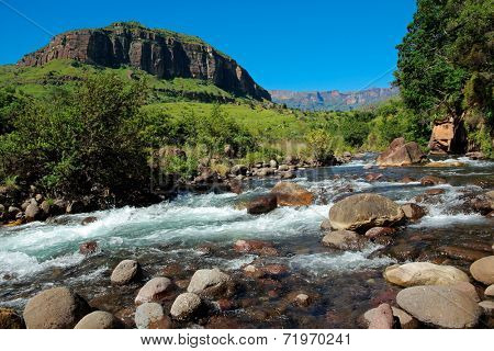 River in the foothills of the Drakensberg Mountains, KwaZulu-Natal, South Africa