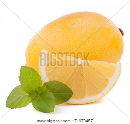 Lemon or citron citrus fruit isolated on white background cutout