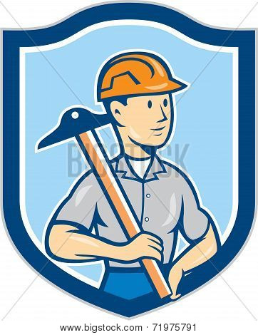 Engineer Architect T-square Shield Cartoon
