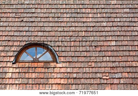 Old Red Roof And Window