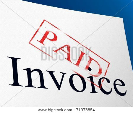 Bill Payments Indicates Settlement Confirmation And Balance