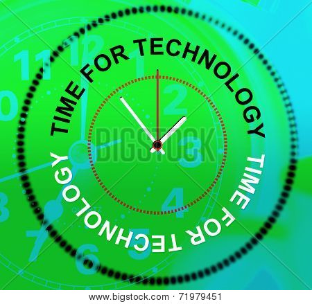 Time For Technology Represents Knowledge Bytes And Fact