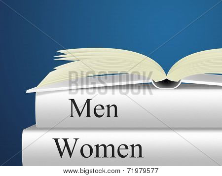 Women Books Means Woman Fiction And Lady