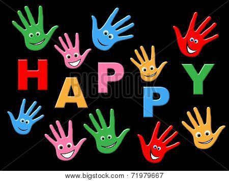 Joy Happy Represents Children Youngsters And Happiness