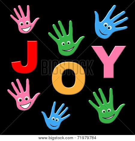 Joy Kids Shows Happy Positive And Joyful