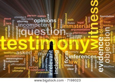 Testimony Evidence Background Concept Glowing