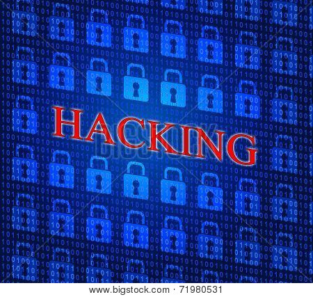 Online Hacking Indicates World Wide Web And Internet