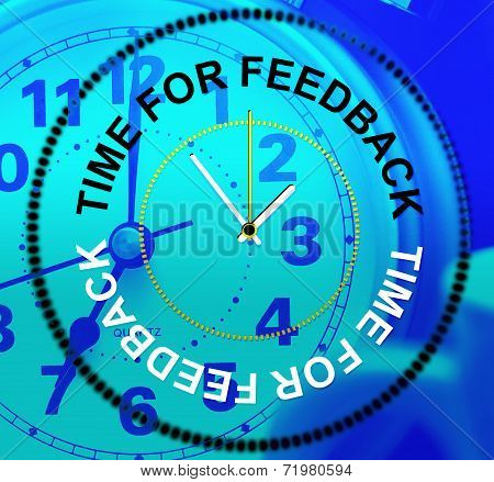 Time For Feedback Shows Response Comment And Survey