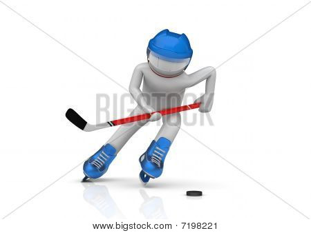 Hockey Player Close-up
