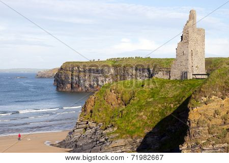 Castle Beach And Cliffs In Ballybunion