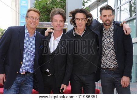 LOS ANGELES - MAY 09:  Rick Springfield, Doug Davidson, Richard Marx & Jason Thompson arrives to the Walk of Fame Honors Rick Springfield  on May 09, 2014 in Hollywood, CA.