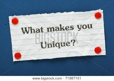Uniqueness Question