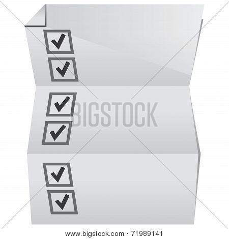 check list paper
