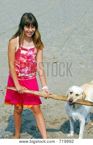 Garota Play Dog