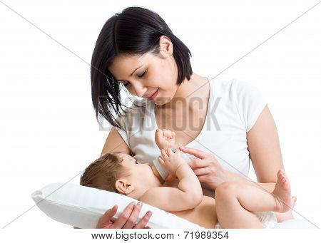 Mom Feeding Baby From Bottle