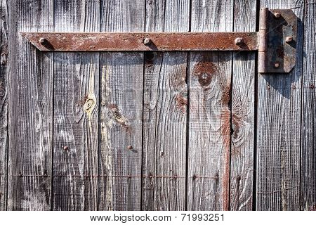 Iron Hinge On Door