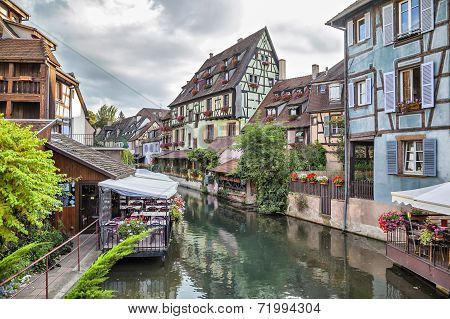 Colorful Traditional French Houses In Colmar, France