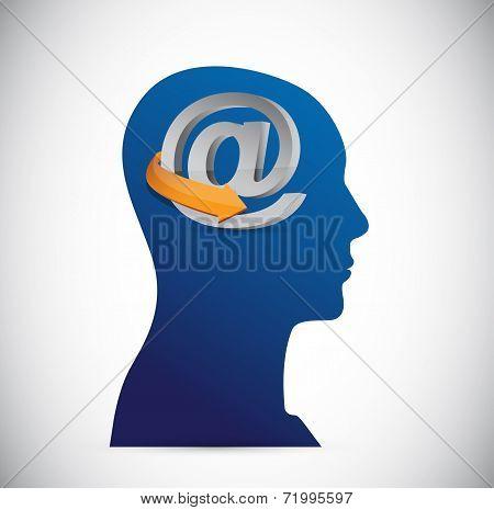 Att Symbol And Head Illustration Design