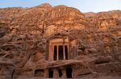 stock photo of petra jordan  - Nabataean delubrum of the Siq al - JPG