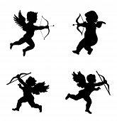 image of cupid  - Cupid love silhouette - JPG