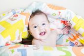 image of peeking  - Funny Baby Playing Peek - JPG
