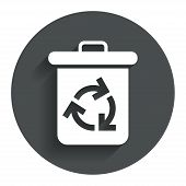 foto of reuse  - Recycle bin icon - JPG