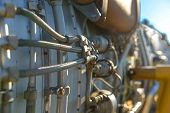 foto of fighter plane  - Jet engine of a fighter plane closeup photo - JPG