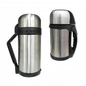 foto of thermos  - The image of thermos under the white background - JPG