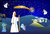 picture of bethlehem  - composition for Christmas Christmas with the stable in Bethlehem - JPG