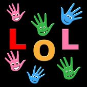 stock photo of laugh out loud  - Kids Lol Representing Laughing Out Loud And Child - JPG