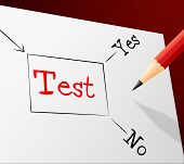 stock photo of quiz  - Quiz Test Indicating Questions And Answers And Quizzes Choosing - JPG