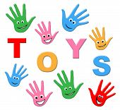 stock photo of youngster  - Kids Toys Indicating Youngster Toddlers And Youths - JPG