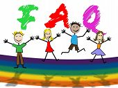 image of youngster  - Faq Kids Showing Frequently Asked Questions And Support Youngsters - JPG