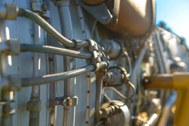 picture of fighter plane  - Jet engine of a fighter plane closeup photo - JPG