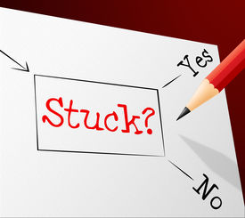 pic of struggle  - Choice Stuck Representing Hopelessness Struggle And Difficulty - JPG