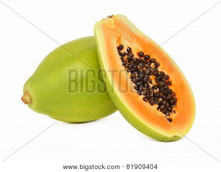 Ripe Papaya (isolated)