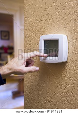 Touchpad Thermostat Display
